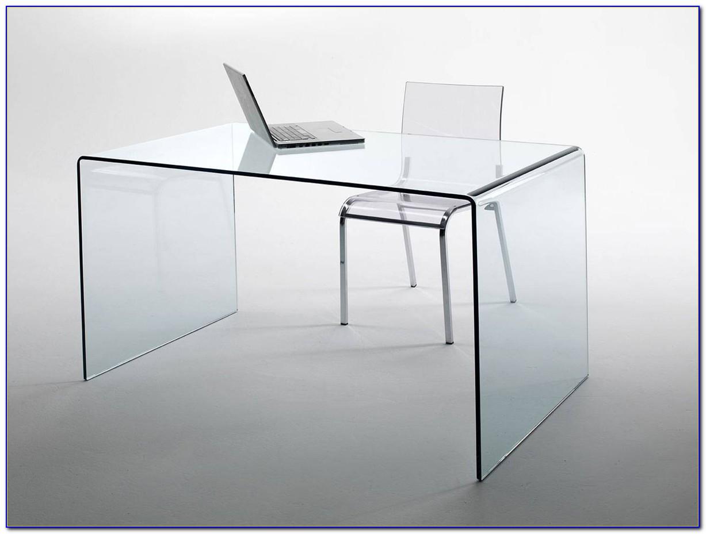 Glas Schreibtisch Schwarzglas