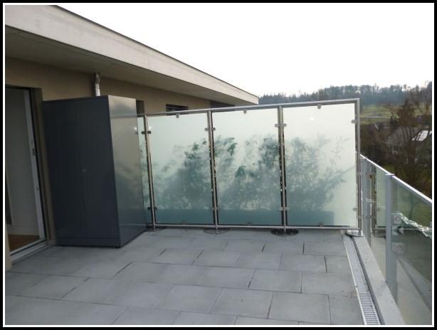 Glas Sichtschutz Für Terrassen