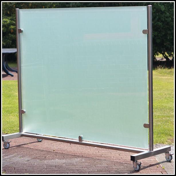 Glas Terrassen Windschutz