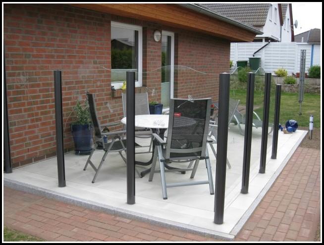 Glas Windschutz Für Terrassen