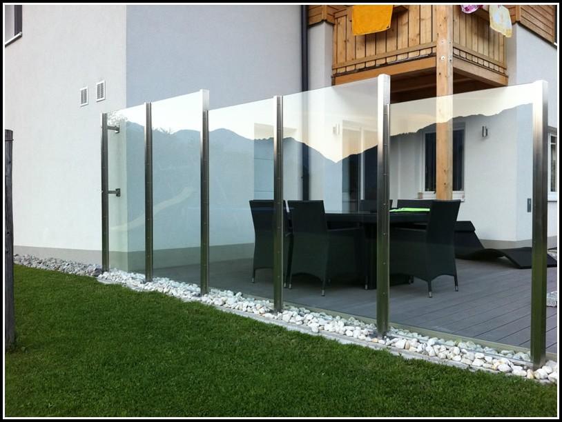 Glas Windschutz Terasse