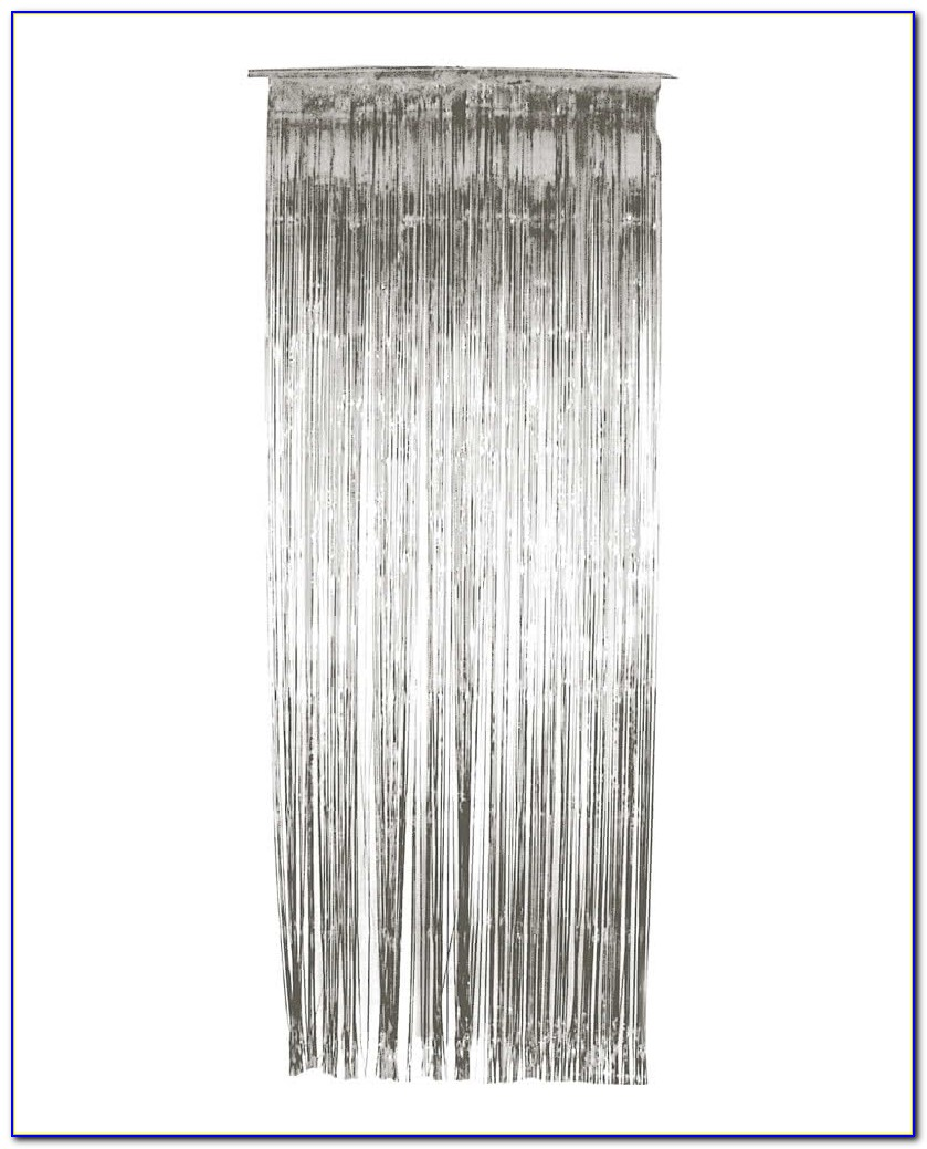 Glitzervorhang Silber