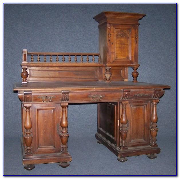 Gründerzeit Schreibtisch Eiche