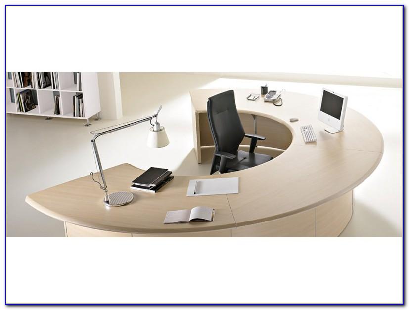 Großer Runder Schreibtisch