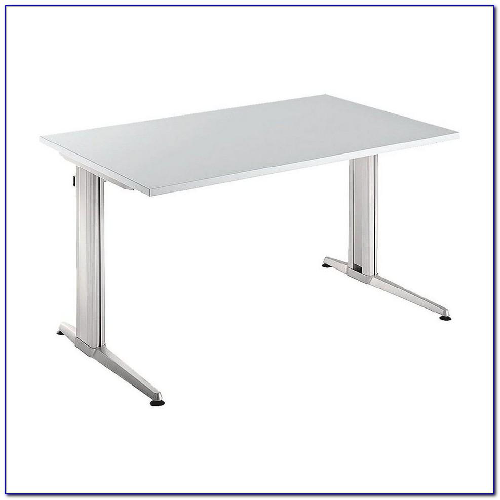 Höhenverstellbarer Schreibtisch Lichtgrau