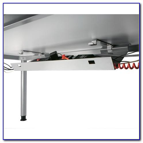 Höhenverstellbarer Schreibtisch Mit Kabelkanal