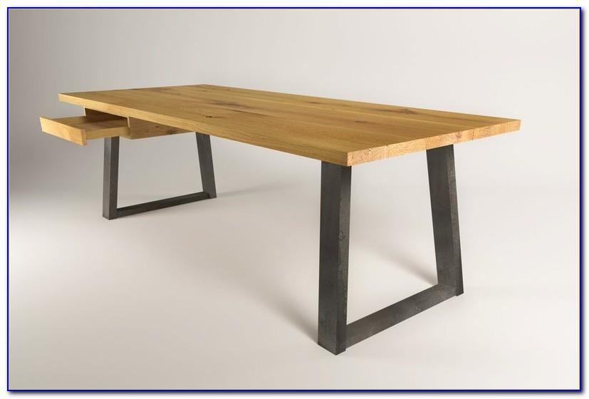 Höhenverstellbarer Schreibtisch Naturholz