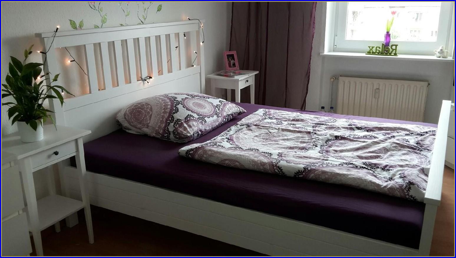 Hemnes Bett Weiß Lackiert