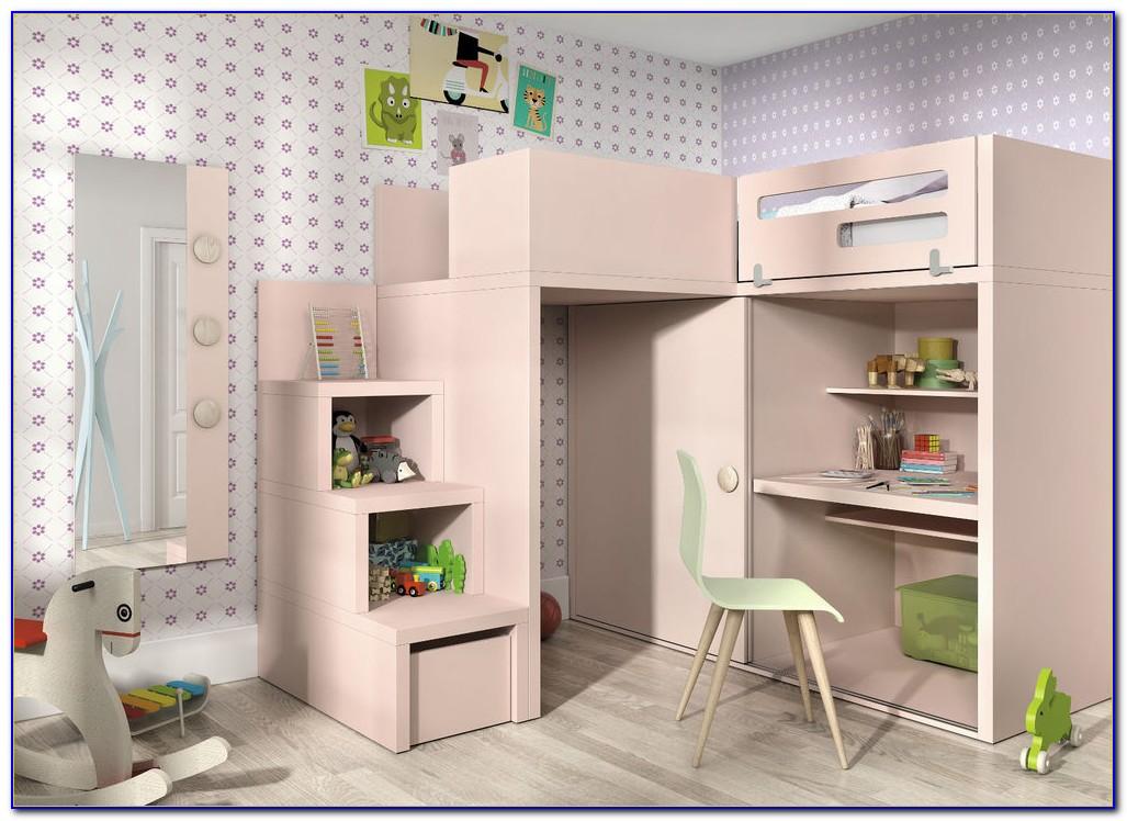 Hochbett Mit Integriertem Kleiderschrank Und Schreibtisch