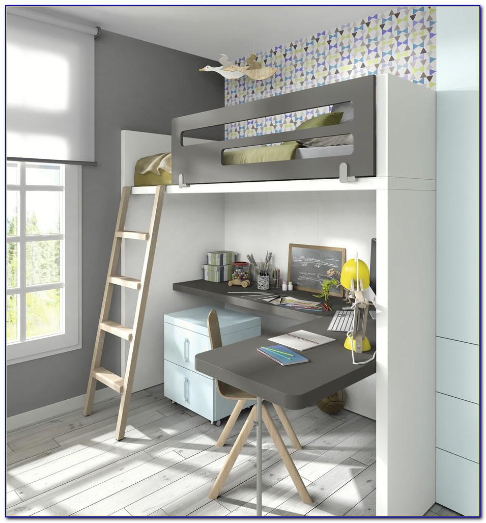 Hochbett Mit Integriertem Schreibtisch Und Kleiderschrank