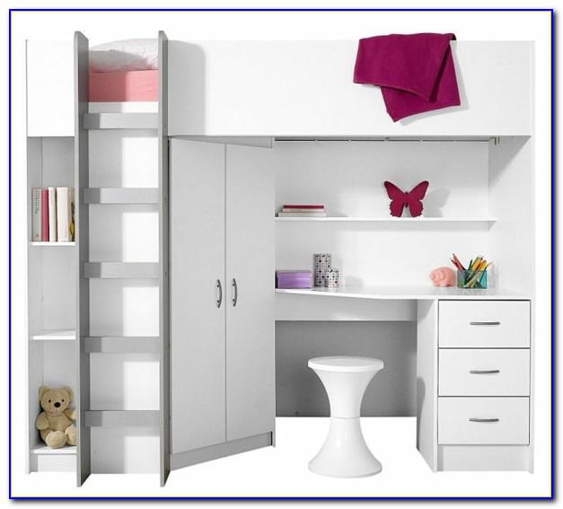 Hochbett Mit Kleiderschrank Und Schreibtisch
