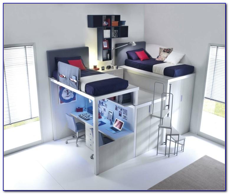 Hochbett Schrank Schreibtisch Treppe