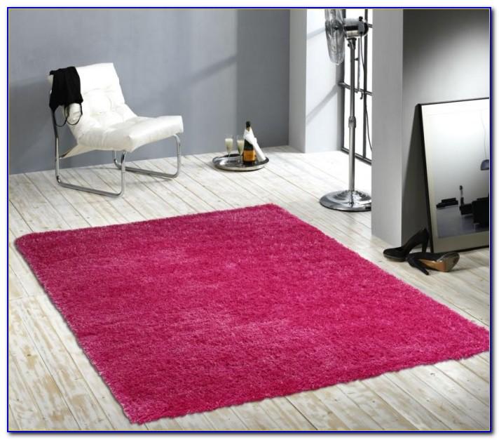 Hochflor Teppich Pink