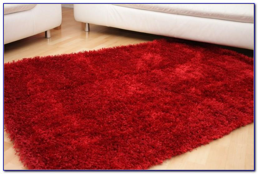 Hochflor Teppich Shaggy Rot