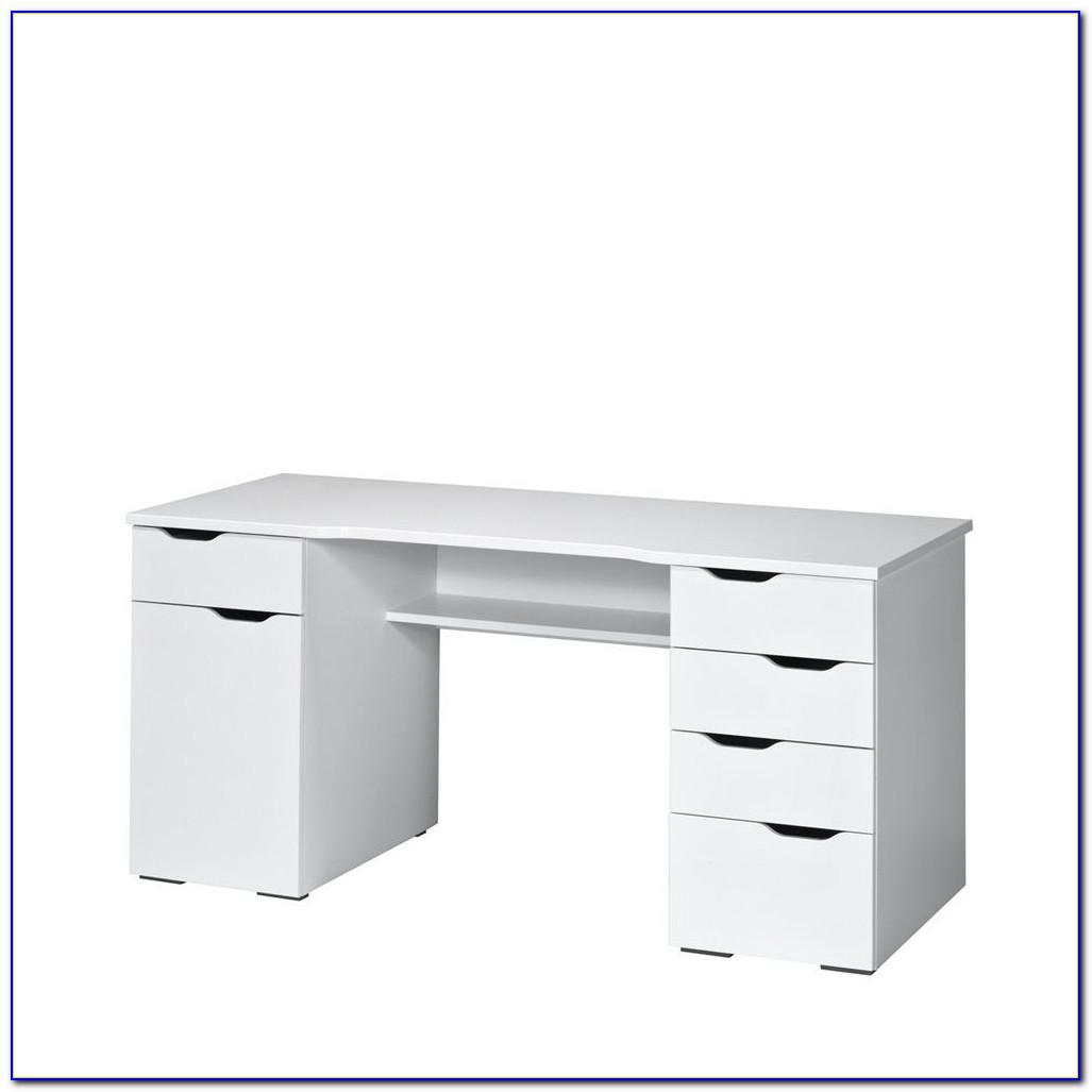 Hochglanz Schreibtisch Schwarz