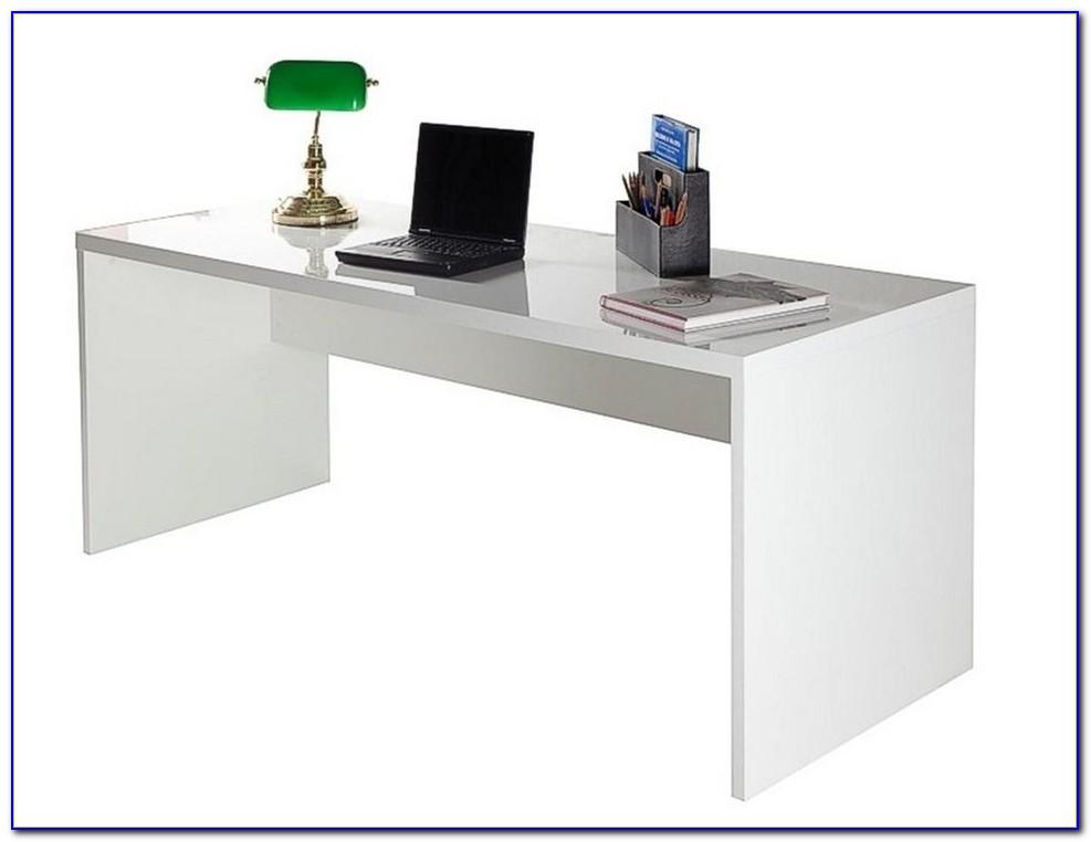 Hochglanz Schreibtisch Weiß