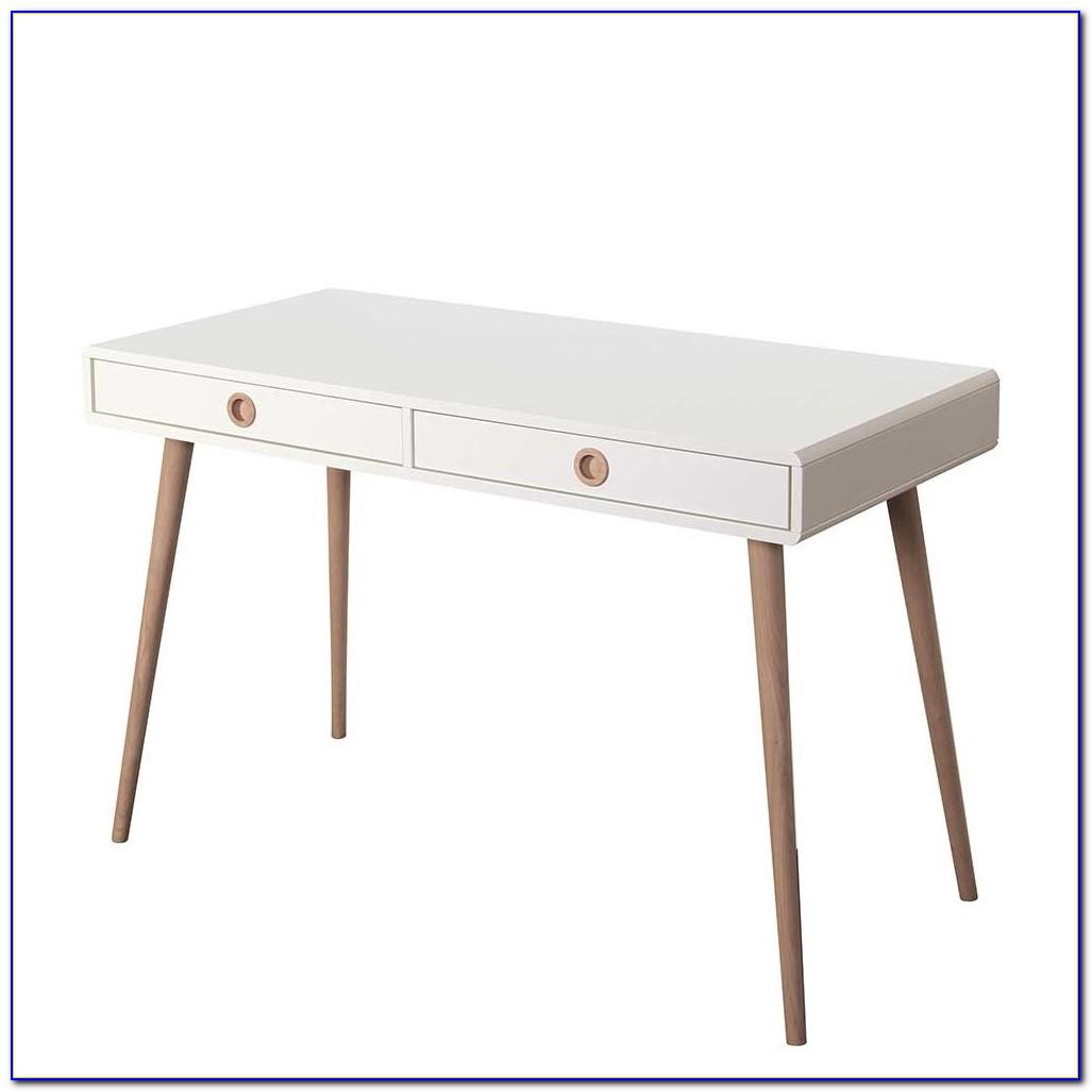Holz Schreibtisch Weiß Streichen