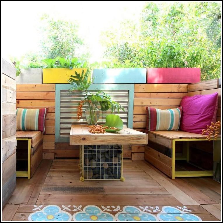 Holz Sichtschutz Balkon