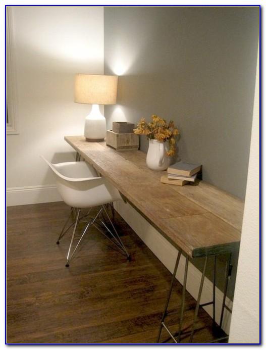 Holzplatten Schreibtisch