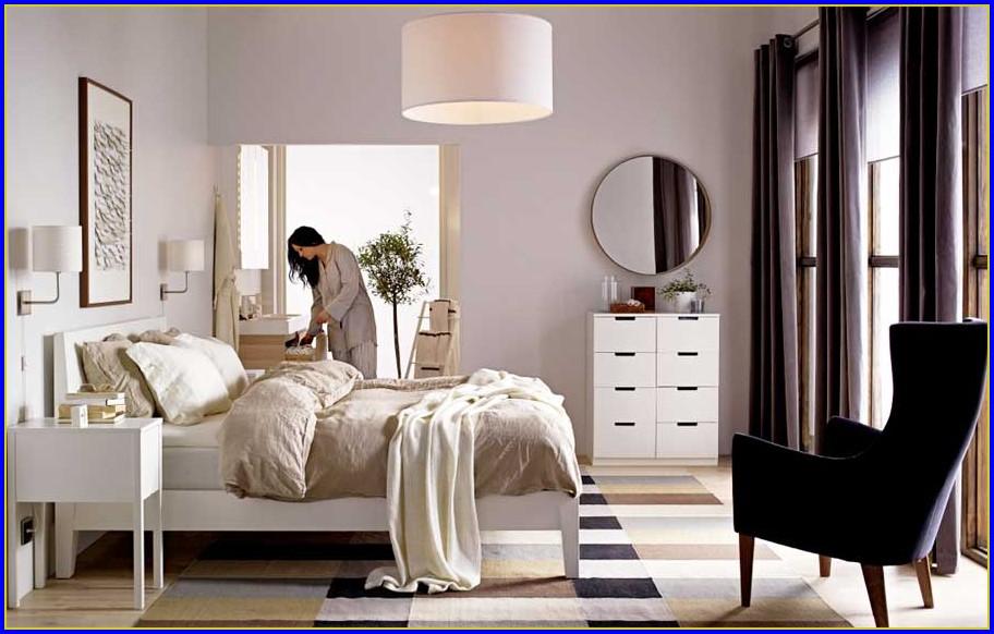 Ikea Bett Weiss Metall