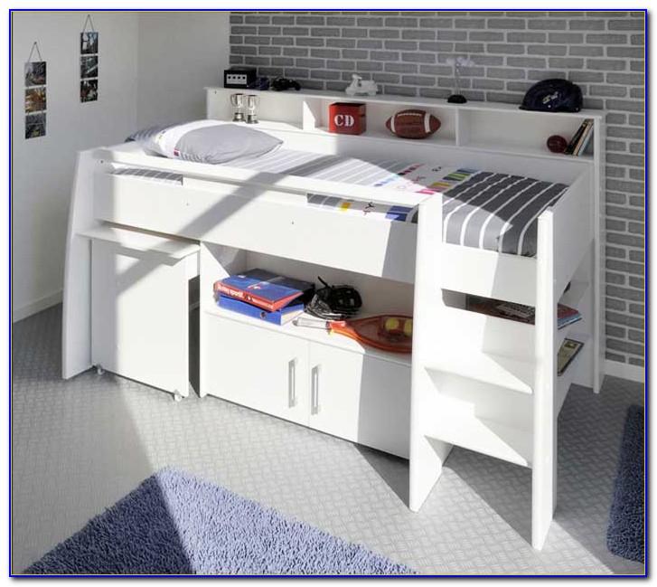 Ikea Hochbett Metall Mit Schreibtisch