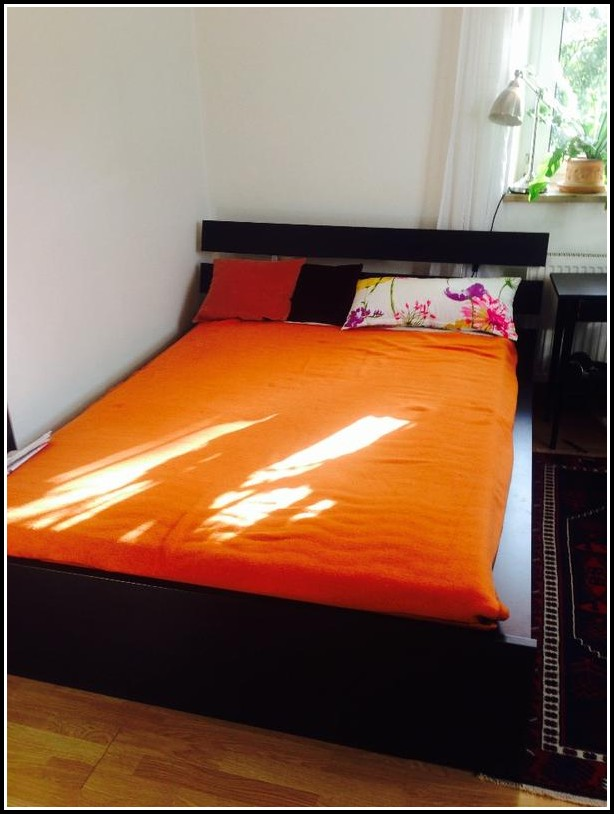 Ikea Malm Bett 90×200 Schwarz