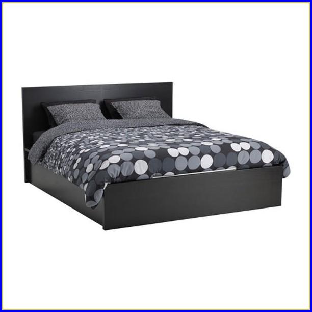 Ikea Malm Bett Schwarzbraun