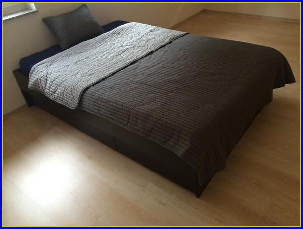 Ikea Malm Bettgestell Schwarzbraun