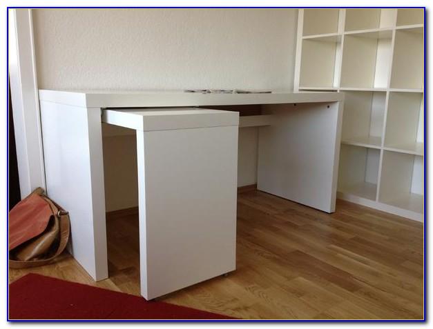 Ikea Malm Schreibtisch Mit Ausziehplatte Weiß