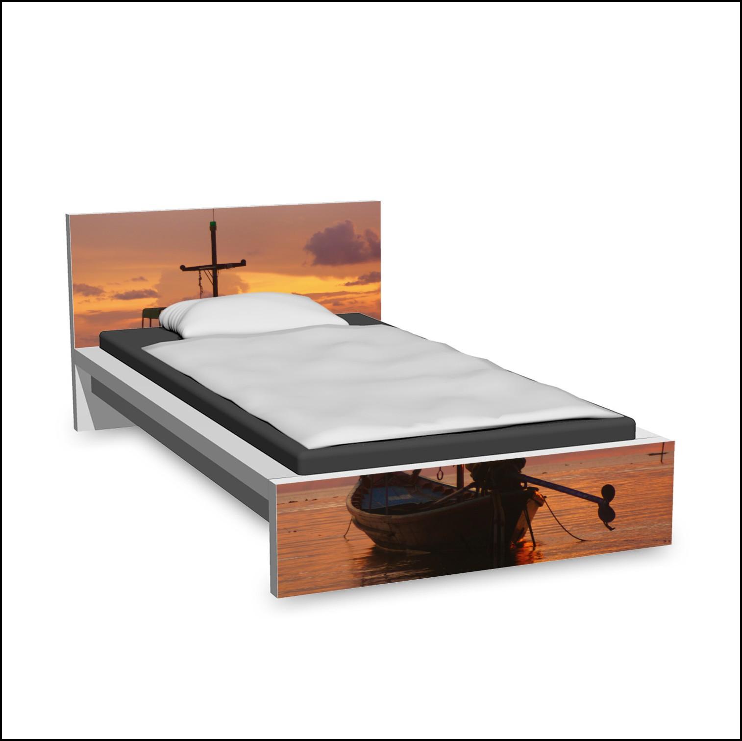Ikea Malm Tisch über Bett