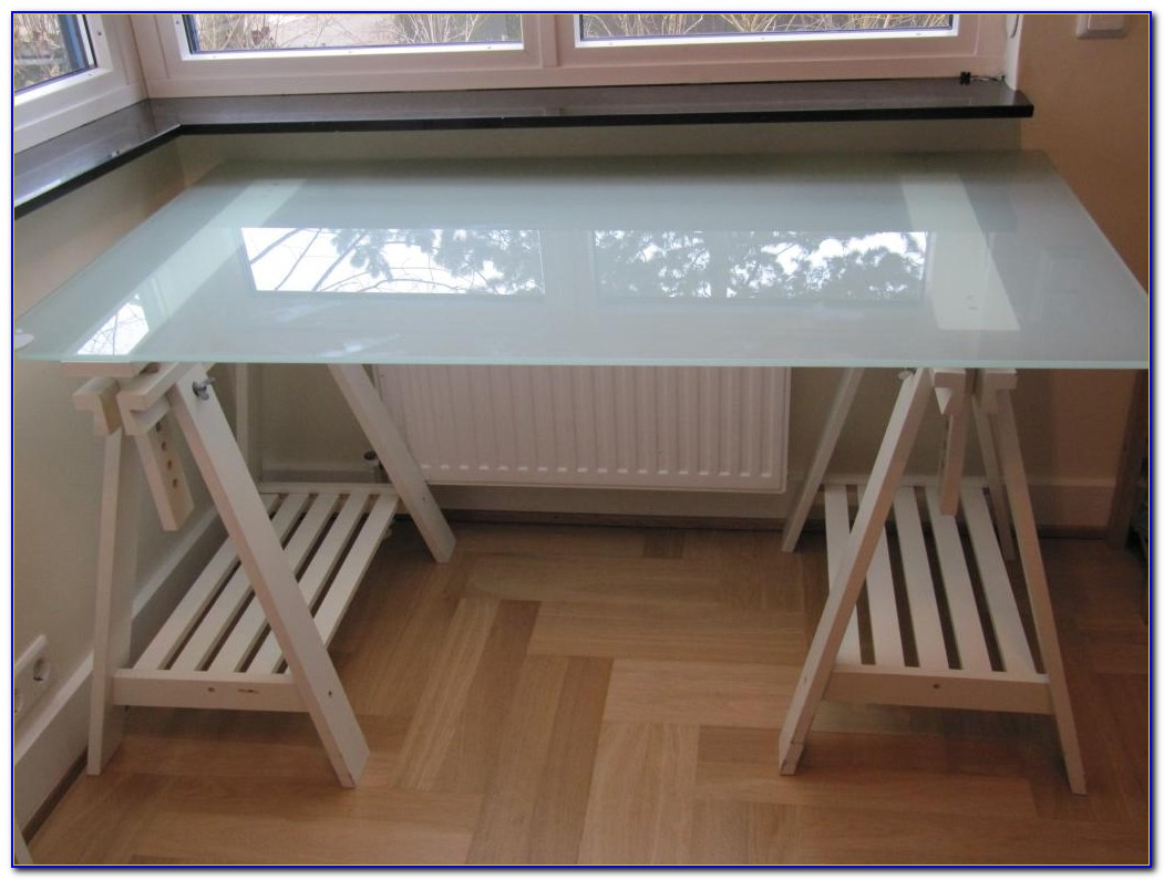 Ikea Schreibtisch Glas Rollen
