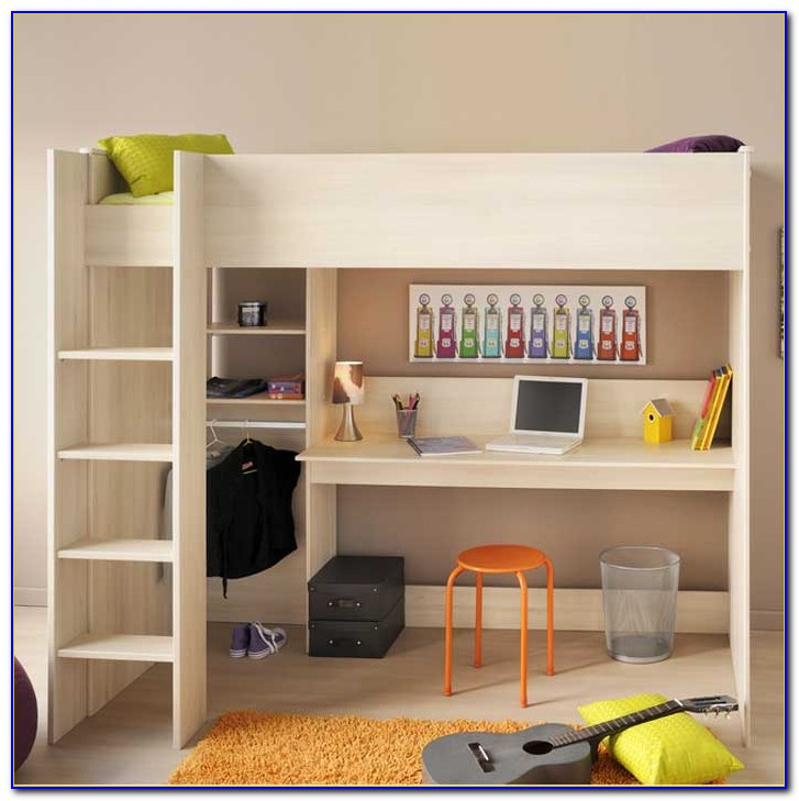 Ikea Tromsö Hochbett Mit Schreibtisch