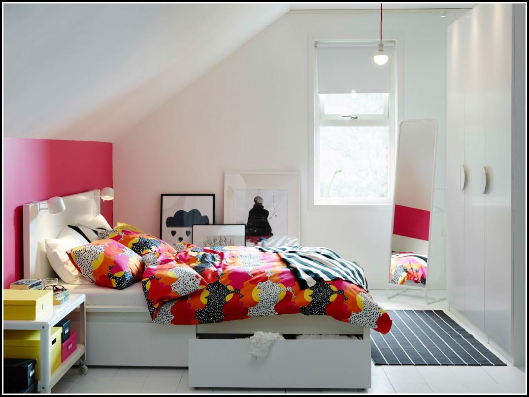 Ikea Weißes Bettgestell