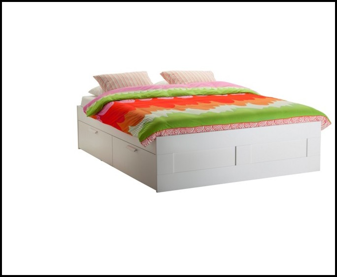 Ikea Weisses Bett Mit Bettkasten