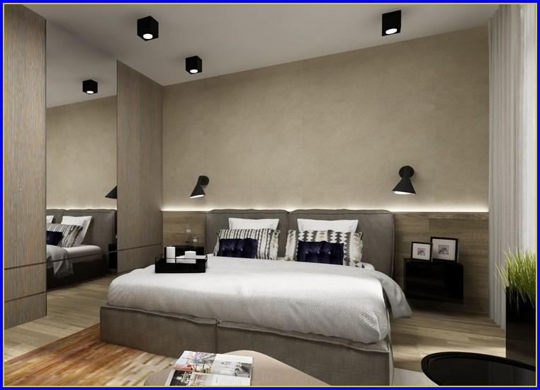 Indirekte Beleuchtung über Bett