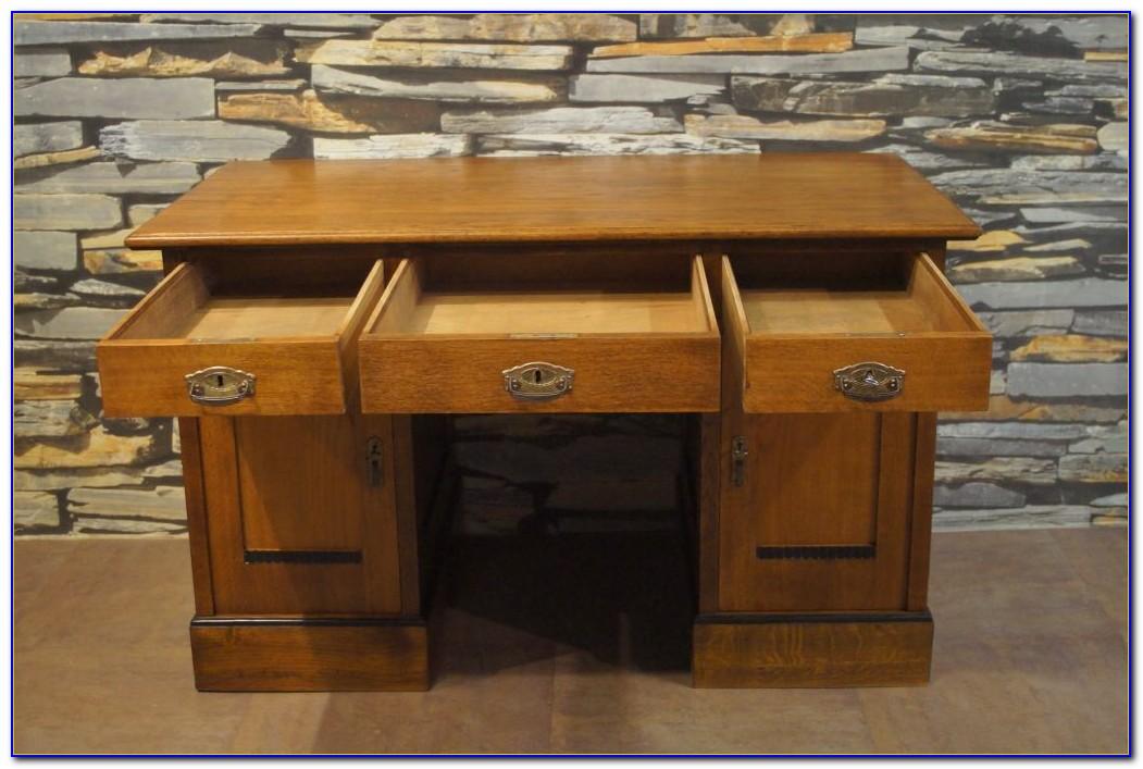 Jugendstil Schreibtisch Eiche