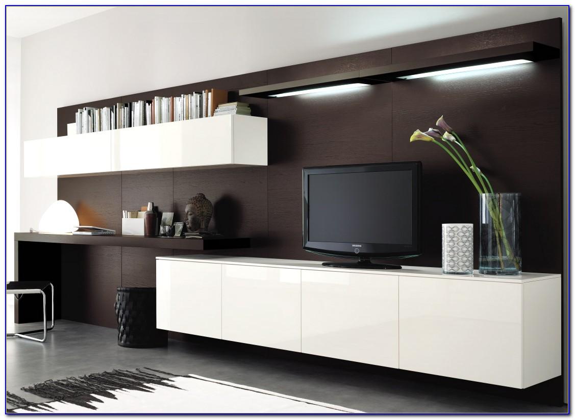 Jugendzimmer Wohnwand Mit Schreibtisch
