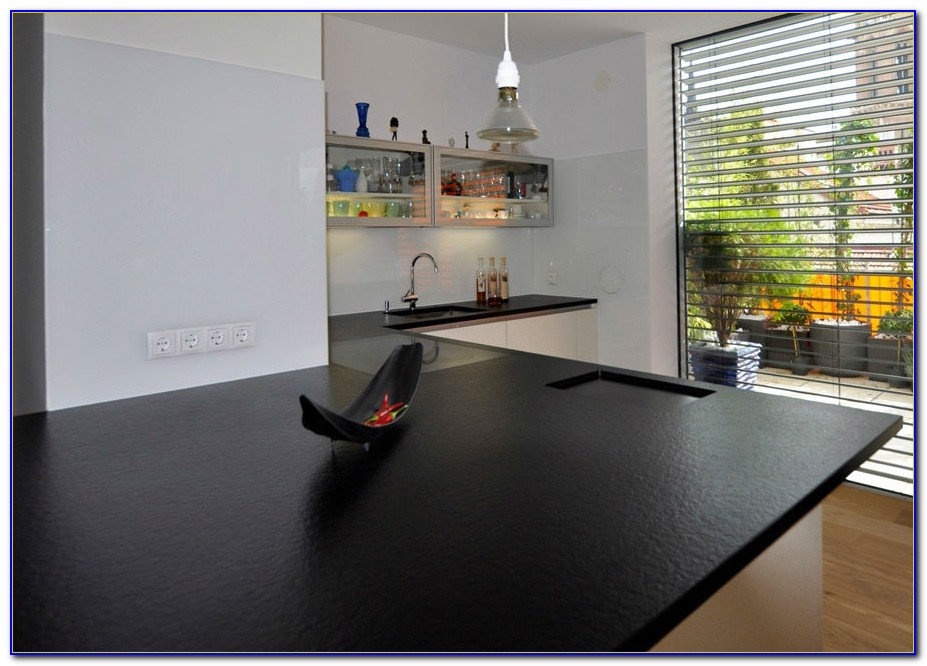 Küchenarbeitsplatte Glas Schwarz