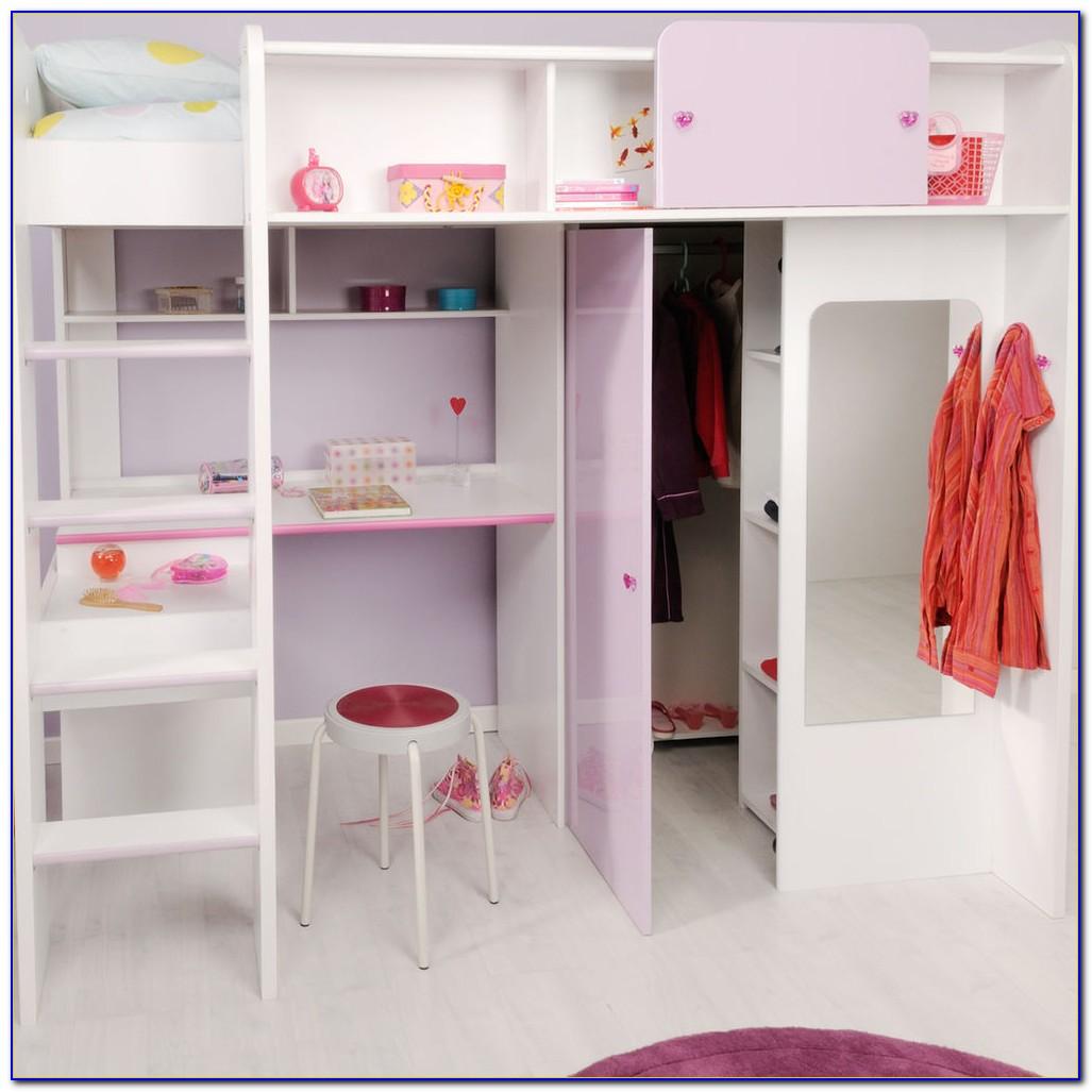 Kinder Hochbett Mit Schrank Und Schreibtisch