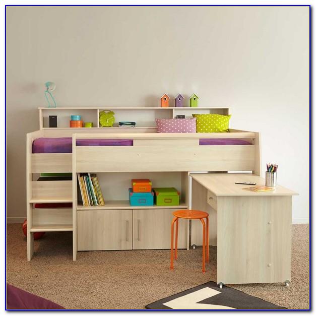 Kinder Hochbett Mit Schreibtisch Und Schrank