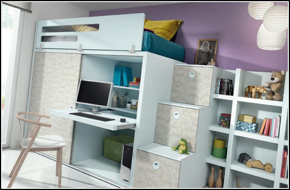 Kinderzimmer Komplett Mit Hochbett Und Rutsche