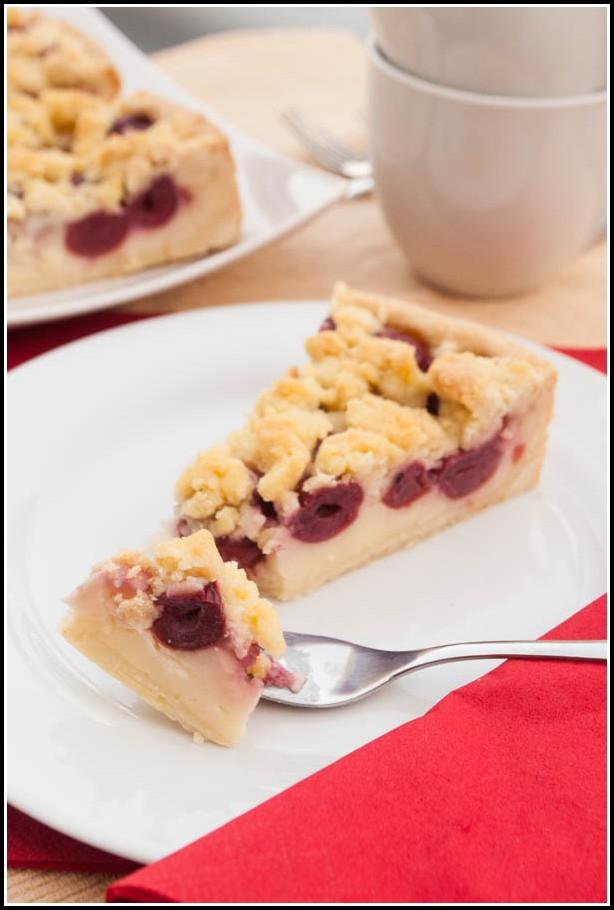 Kirsch Streusel Kuchen Mit Pudding