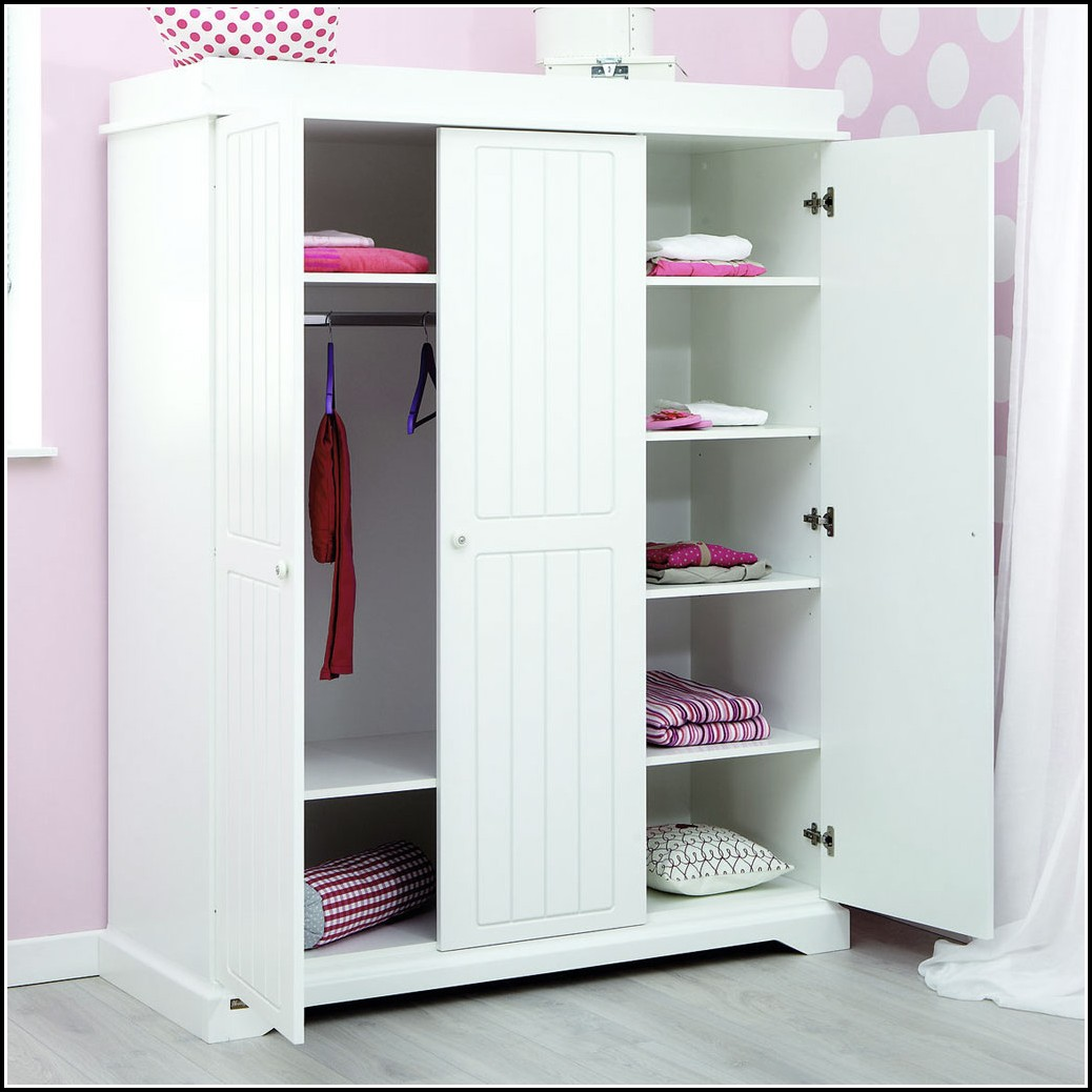 Kleiderschrank Kinderzimmer Weiß 3 Türig