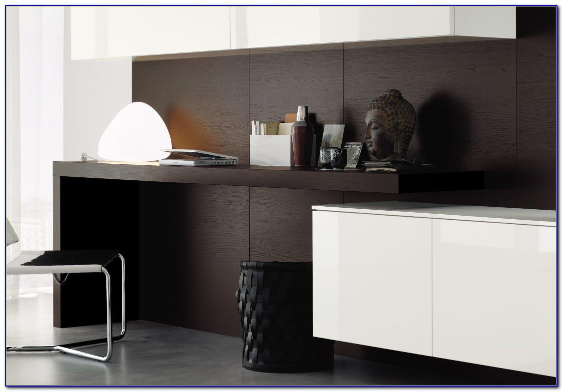 Kleine Wohnwand Mit Schreibtisch