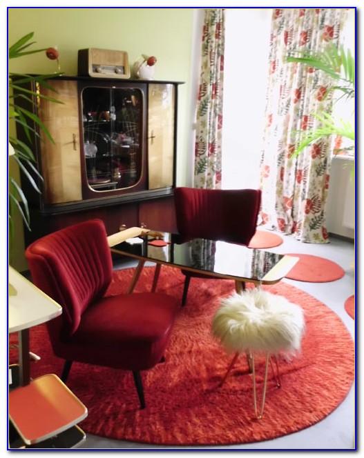 Kleiner Runder Teppich Rot