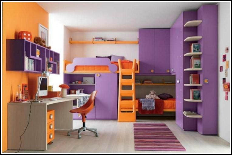 Komplett Kinderzimmer Mit Hochbett Und Rutsche