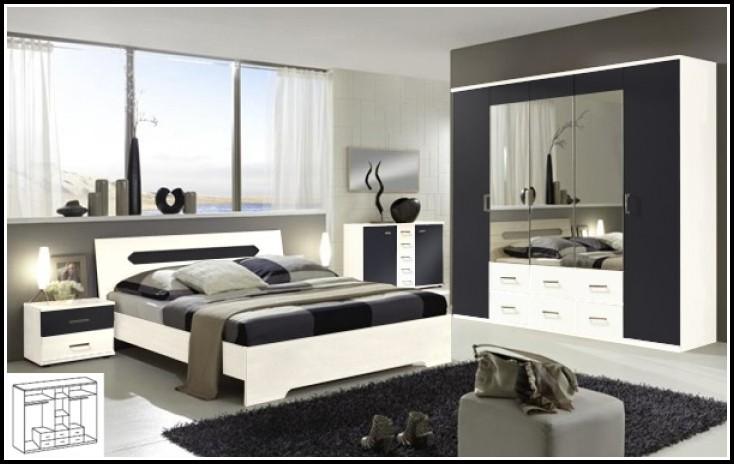Komplett Schlafzimmer Weiss Hochglanz
