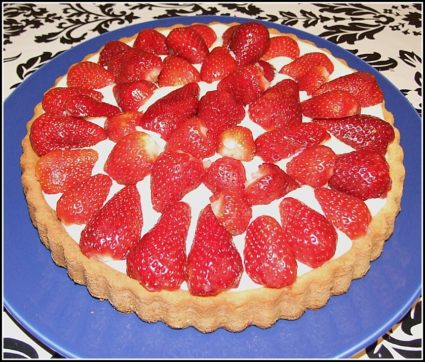 Kuchen Mit Erdbeeren Und Himbeeren