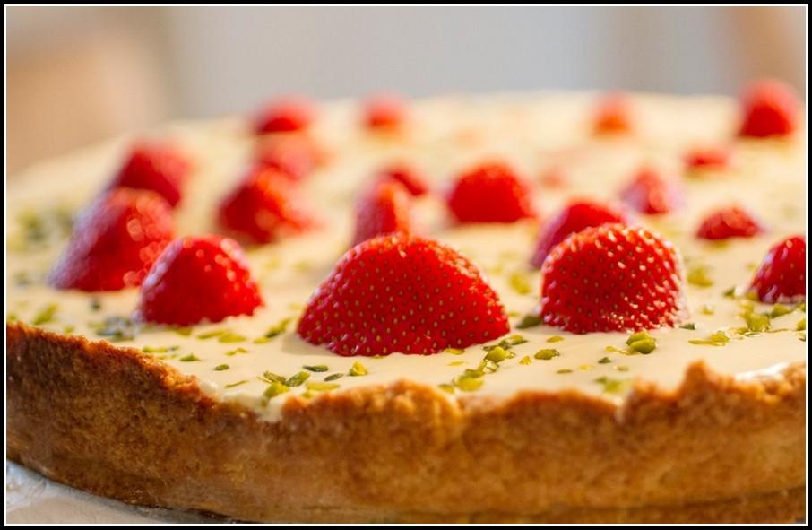 Kuchen Mit Erdbeeren Und Vanillepudding