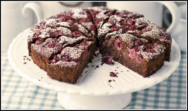 Kuchen Mit Kirschen Und Streuseln